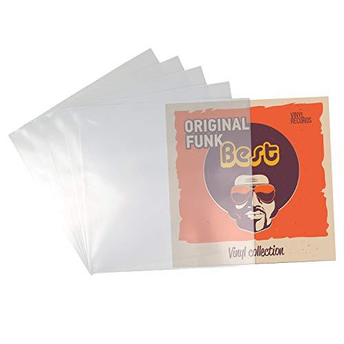Beats & More PREMIUM LP 12' Schutzhüllen - Vinyl Schallplattenhüllen - 100 - optimaler Schutz für Schallplatten - 100 Stück - Made in Germany - 325 mm x 325 mm x 0,10 mm - 100 Stück
