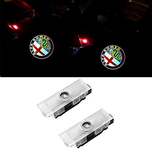 ZTMYZFSL 2 Pcs Car Logo Projection LED Projecteur Porte Fantôme Ombre Lumière Lampe pour la lumière de bienvenue