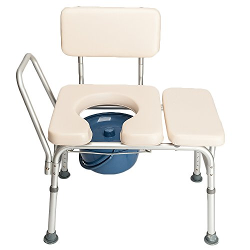 Mefeir Commode Toilet Chair Elongated Seat Heavy Duty 300 LBS,Medical Supply Bath Chair for Shower,Health Care for Elder People Disabled People Pregnant Women White