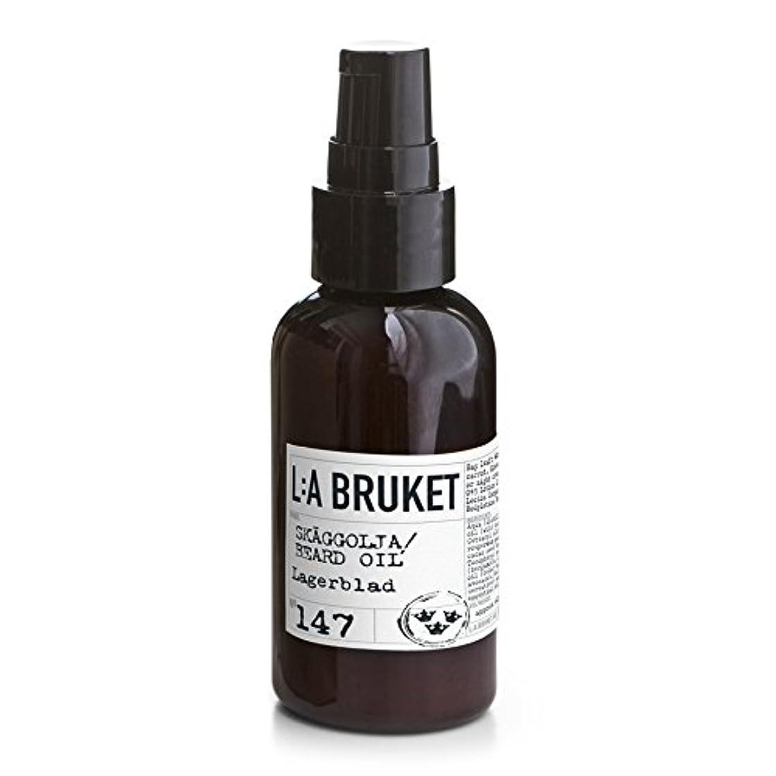 L:A Bruket Laurel Leaf Beard Oil 200ml - :月桂樹の葉のひげオイル200ミリリットル [並行輸入品]