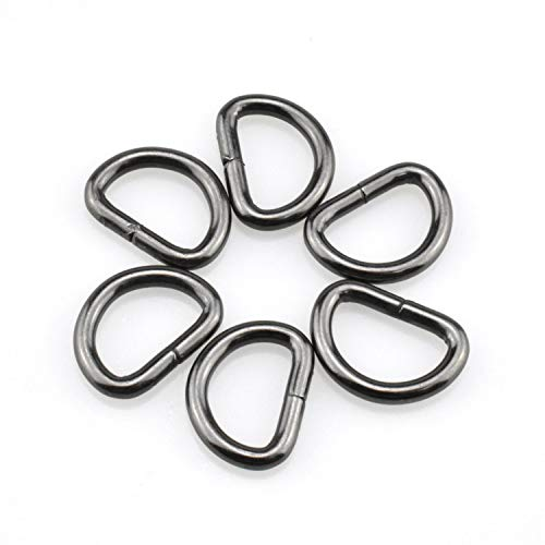 HAO PRO Extra Thick 3mm Welded Strong D Shape Rings D Ring Metal Heavy Duty Black 0.62 Inside Width 27 Pack for Dog Collars Harnesses Fabric Paracord DIY Strap Webbing Craft Smooth Rust Proof