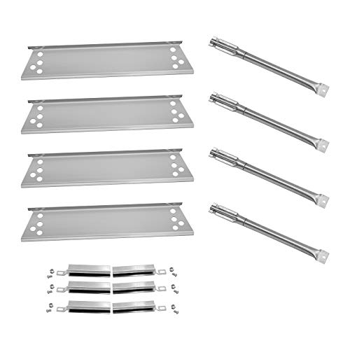 Folocy Stainless Steel Grill Heat Plates Shield Tent Burner Cover, Gas Grill Burner Tube Gas Grill Parts for Charbroil 463411512, Nexgrill 720-0719BL, Kenmore 122.16134110, 415.16107110 Grill Models