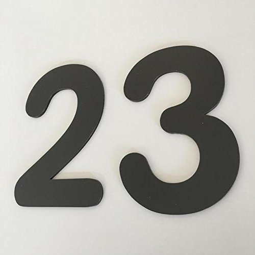 ServeWell Mocha Brown Matt, Platte afwerking, Huisnummers - Afgerond 15 cm BRON