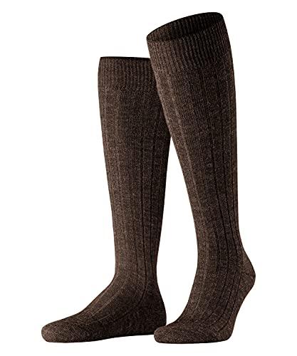 FALKE Herren Kniestrümpfe Teppich Im Schuh, Schurwolle, 1 Paar, Braun (Dark Brown 5450), 43-44 (UK 8.5-9.5 Ι US 9.5-10.5)