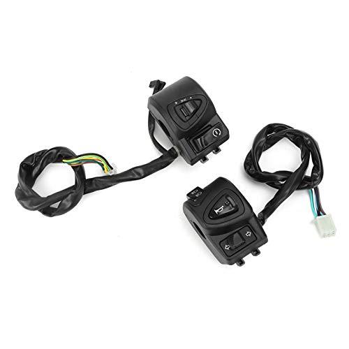 Interruptor de luz de haz alto y bajo 22 mm / 0.9in Interruptor de luz de ciclomotor confiable Interruptor de luz de palanca de freno Reemplazo del botón de luz para ciclomotor de