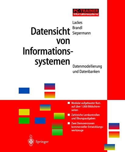 Datensicht von Informationssystemen, 1 CD-ROMDatenmodellierung und Datenbanken. Für Windows 3.x/95