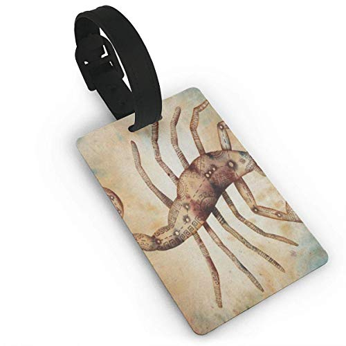 Luggage Tag Sea Whale Jumping Turtle Pixar Travel ID Label Leather for Baggage Suitcase