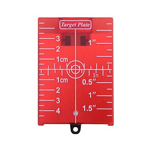 Yardwe Tarjeta de la placa del objetivo láser para el piso magnético con soporte para el tablero de objetivos de nivel de líneas verdes (rojo)