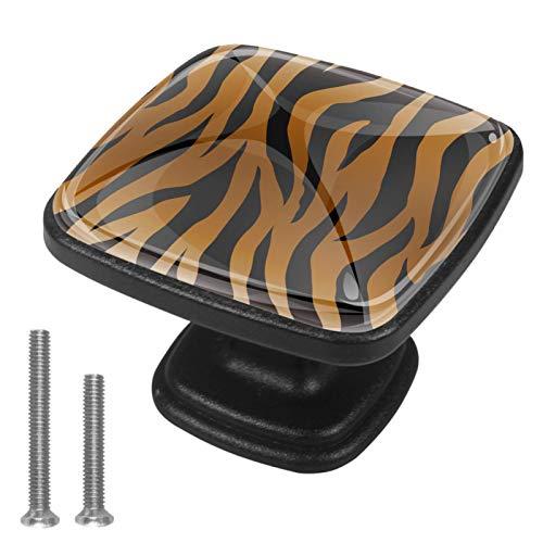 Tiradores y pomos cuadrados para armario, tiradores y tiradores de muebles para armarios, aparadores, cajones, tigre