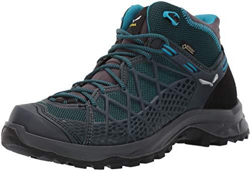 Salewa WS Wild Hiker Mid Gore-TEX, Scarponi da trekking e da escursionismo Donna, Blu (French Blue/Black), 37 EU
