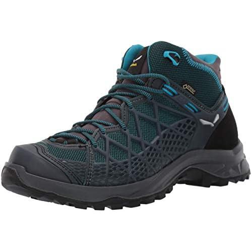 SALEWA WS Wild Hiker Mid Gore-Tex, Scarpe da Arrampicata Alta Donna, Blu (French Blue/Black 340), 36 EU