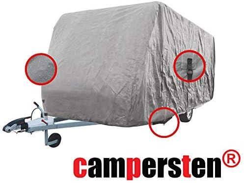 Campersten Wohnwagen Abdeckung Schutzhülle Wohnwagen Abdeckplane 4 Schichten Gewebe 3xl 7 1m Bis 7 5m Auto