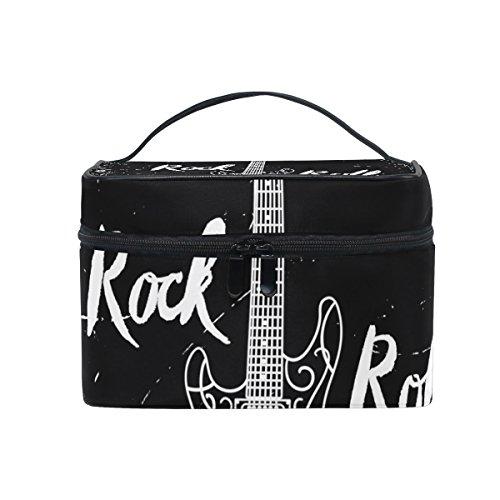 COOSUN Guitarra eléctrica de la roca y del rollo cosmética bolsa de...