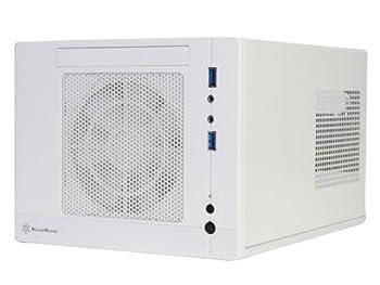Silverstone Tek Plastic/SECC Mini-ITX Computer Case with 2x USB 3.0 Front Ports SFF Cases White SG05W-LITE