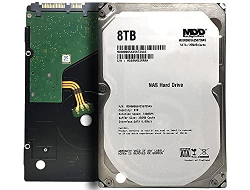 "MaxDigitalData 8TB 7200 RPM 256MB Cache SATA 6.0Gb/s 3.5"" Internal Hard Drive for NAS Network Storage (MD8000GSA25672NAS) - 3 Years Warranty"