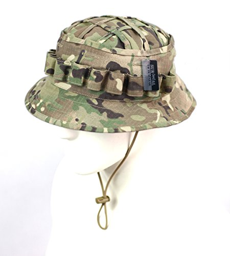 ZAPT Boonie Hat Military Camo Cap Hunter Sniper Ghillie Bucket Hats Adjustable Jungle Bush Hat (Multi Camo)