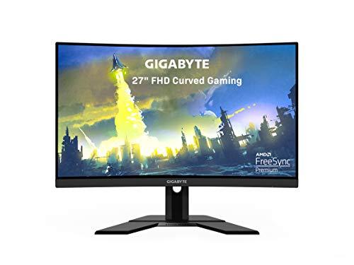 "GIGABYTE G27FC 27"" 165Hz 1080P Curved Gaming Monitor, 1920 x 1080 VA 1500R Display, 1ms (MPRT) Response Time, 90% DCI-P3, FreeSync Premium, 1x Display Port 1.2, 2X HDMI 1.4"