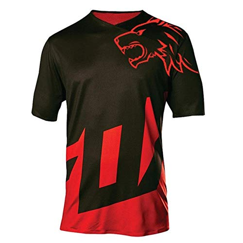 SYXMSM MTB Jersey Motocross Moto Jersey Mountain Bike Motocross MX Jersey DH Short MTB T Shirt Moto Clothing (Color : 1, Size : XL)