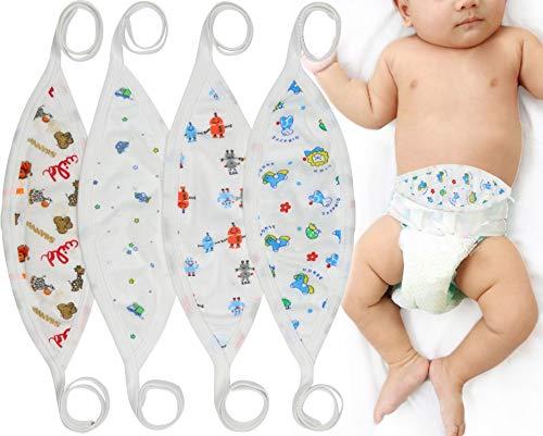 ToBeInStyle Babies' 4-Pack Comfortable Newborn Baby Belly Binder - Boy - One Size