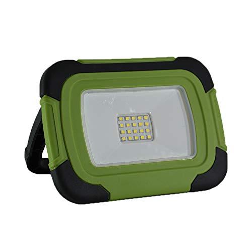 V-tac VT-10-R LED Bouwlamp/Werklamp op accu - 10W - 6400K - Groen
