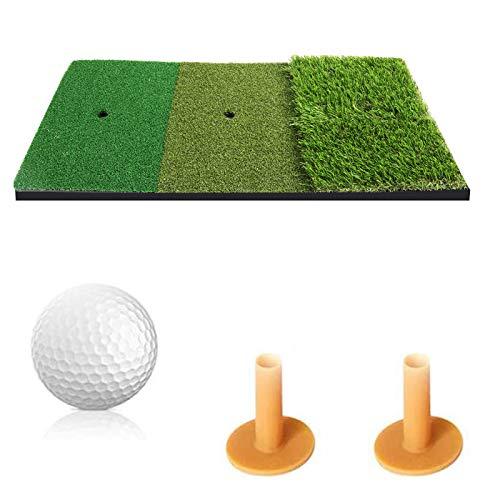 YINGJEE Golf Übungsmatte Zubehör Puttingmatte Praxis Matte für Indoor und Outdoor, 1*Golf Tee,2* Golfbälle Werden Enthalten(30x60cm