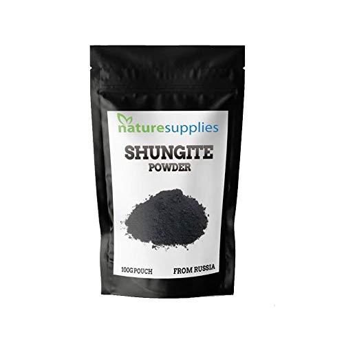 Shungite Powder – Polvos de Karelia en Rusia, 100g, potente filtro de carbono que elimina contaminantes de la desintoxicación por agu