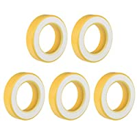 uxcell トロイダルコア 磁石リング 磁気コア アイロン 35.4 x 57.7 x 14mm イェロー ホワイト 5個入り