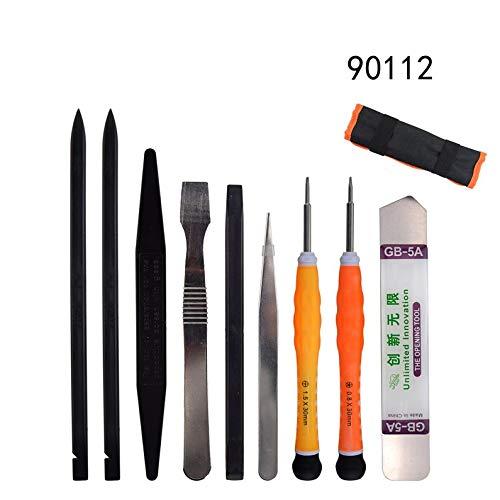 ukYukiko 9 en 1 Kit de herramientas de reparación Spudger Pry herramienta de apertura de pantalla destornillador Pinzas