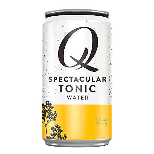 Q Mixers Tonic Water, Premium Tonic Water: Real Ingredients & Less Sweet, 7.5 Fl oz, 24 Cans (Only 45 Calories per Can)