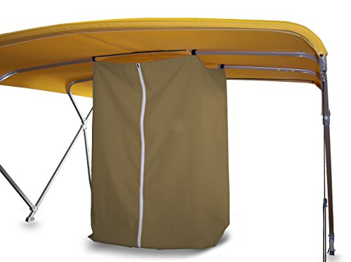Privacy Station - Drop Down for Bimini Top (tan)