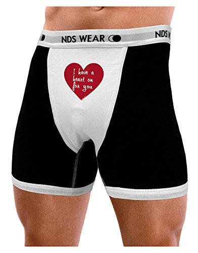 NDS Wear TooLoud I Have a Heart On for You Mens Boxer Brief Underwear - XL