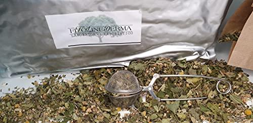 FITOLINEDERMA - Tisana a las hierbas relajante para ansiedad leve y nerviosismo, 500 g – de regalo filtro para infusiones de acero inoxidable (500 g + regalo)