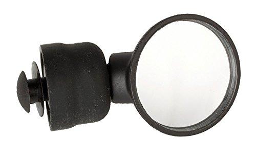 M-Wave Fahrradspiegel SPY MICRO, 3D verstellbarer Konvexspiegel, werkzeuglos montierbar, schwarz