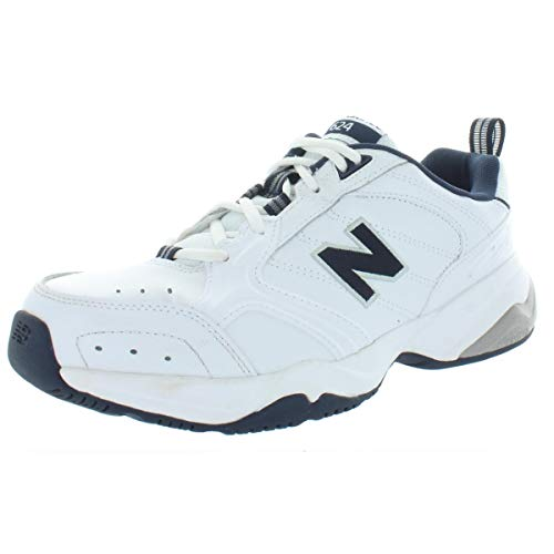 New Balance Men's 624 V2 Casual Comfort Cross Trainer, White/Navy, 17 XW US