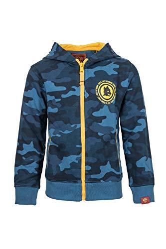 AS Roma Jungen AS Rom Kinder Pullover mit Reißverschluss Jacke, Deep Water Camu, 14