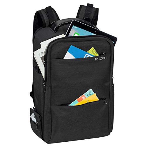 PEDEA DSLR-Kamerarucksack Noble Fotorucksack für Spiegelreflexkameras mit wasserdichtem Regenschutz und Variabler Inneneinteilung, anthrazit