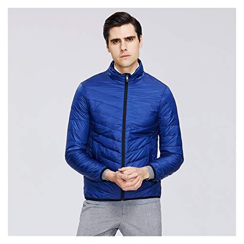 TBAO Neue Leichte Herren Daunenjacke Qualität Herrenjacke Herren Frühlingsmantel Warme Herrenbekleidung (Color : Blue, Size : 52)