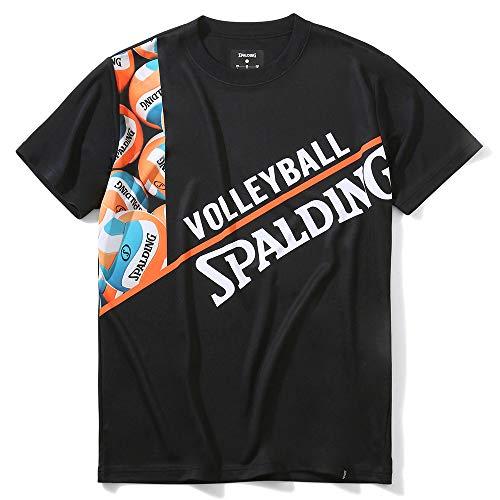 SPALDING(スポルディング) バレーボール バレーボールTシャツ ボールフォト SMT201880 ブラック Sサイズ バレー