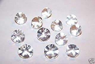 Edible Sugar Diamonds ASSORTED SIZES Wedding Cake Cupcake Candy Decoration 20pc