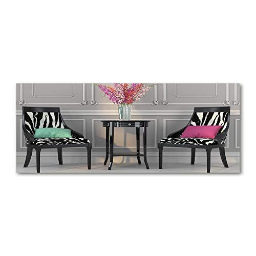 Tulup Acrylglas - Wandkunst - Bild auf Acrylglas Deko Wandbild hinter Kunststoff/Acrylglas Bild - Dekorative Wand für Küche & Wohnzimmer 125 x50 cm - Sonstige - Zwei Stühle - Mehrfarbig