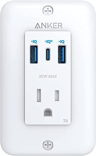 lowest Anker USB C lowest Wall Outlet, PowerExtend USB-C Wall Outlet, 2 outlets and 2 USB Ports and 30W Power Delivery Port, high quality Tamper Resistant Receptacles, ETL Listed online sale