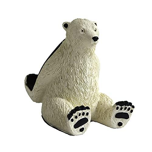 QW Polar Bear Mobile Phone Stand Creativo Personalidad Tablet Soporte Soporte Soporte Lazy Desktop Stand Fashion Linda Regalo A