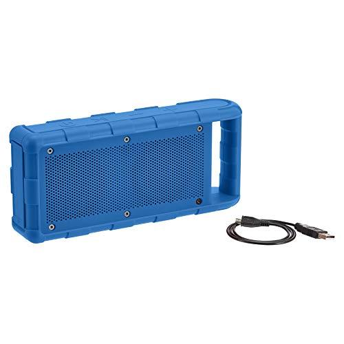 AmazonBasics Tragbarer Bluetooth-Lautsprecher, für den Außenbereich, IPX5 wasserdicht, 15 W, Blau