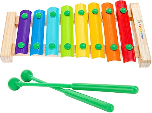 Cocomelon First Act Musical Xylophone with 2 mallets, Kids Music Toy, Multi (CMF0001)