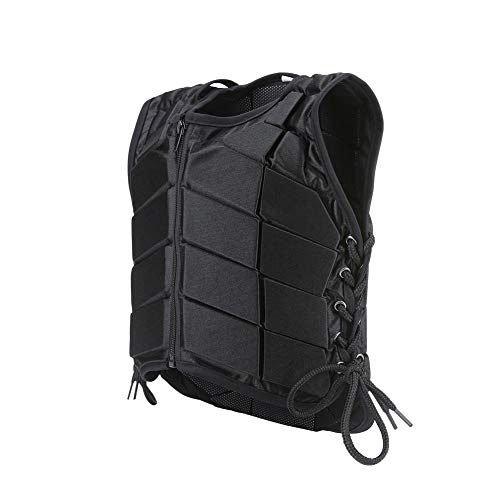 Chaleco de equitación , cómodo protector de entrenamiento de equitación chaleco de seguridad de varios tamaños negro