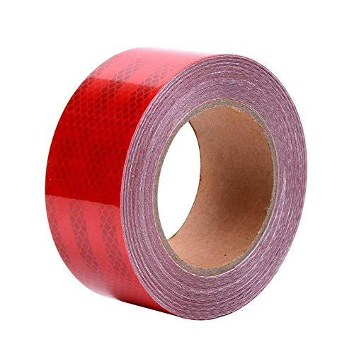 ONTWIE Cinta reflectante impermeable de alta visibilidad, resistente al agua, cinta adhesiva de advertencia de seguridad, para exteriores, color rojo, 9,8 m