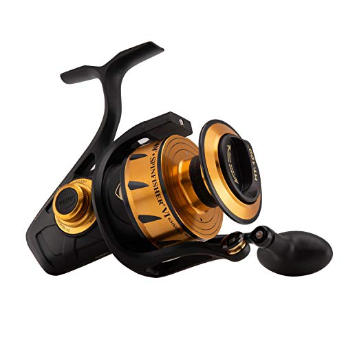 Penn Spinfisher V & VI Spinnrolle, Spingfisher VI, schwarz/goldfarben, 6500