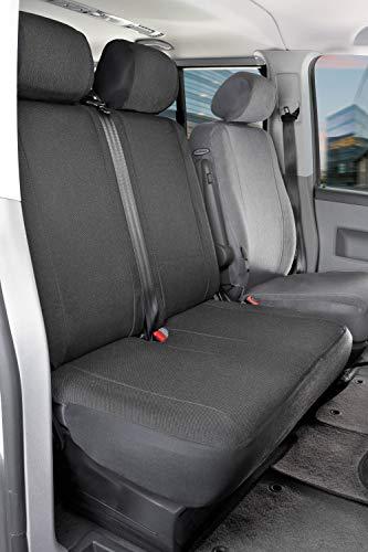 Funda de asiento de coche Walser 10456 Funda de asiento de poliéster antracita compatible con el VW