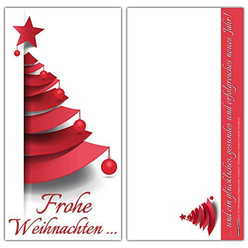Weihnachtskarten Set (12 Stück) WEIHNACHTSBAUM - ideal als Brief oder Postkarte - privat und geschäftlich - Frohe Weihnachten Karten von BREITENWERK