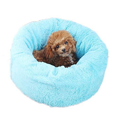 HD2DOG Hondenbed, pluche donut huisdierbed, warm hondenbed voor kleine middelgrote kattenhonden, antislip bodem, hoge kwaliteit en extreem zacht en comfortabel